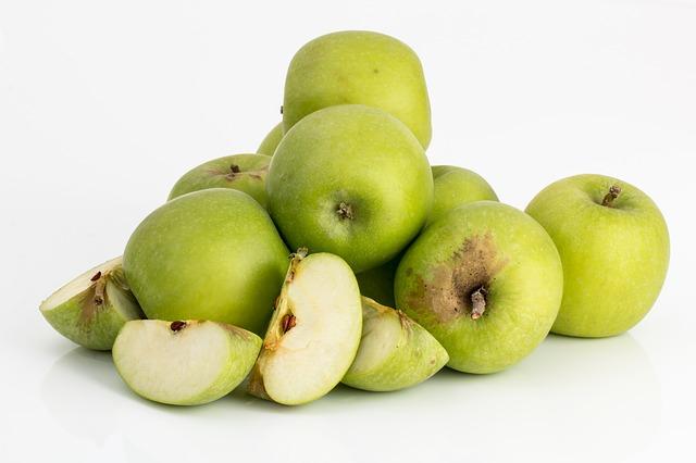 krájené jablka