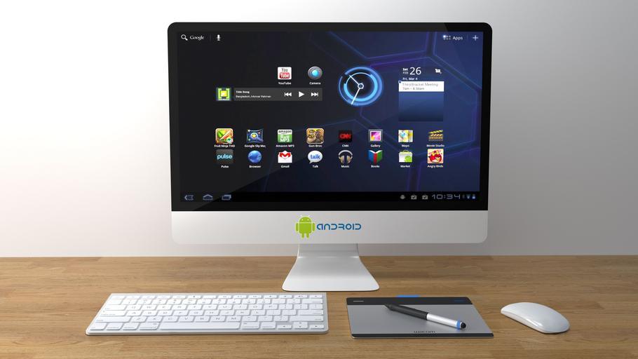 Počítač na pracovnom stole